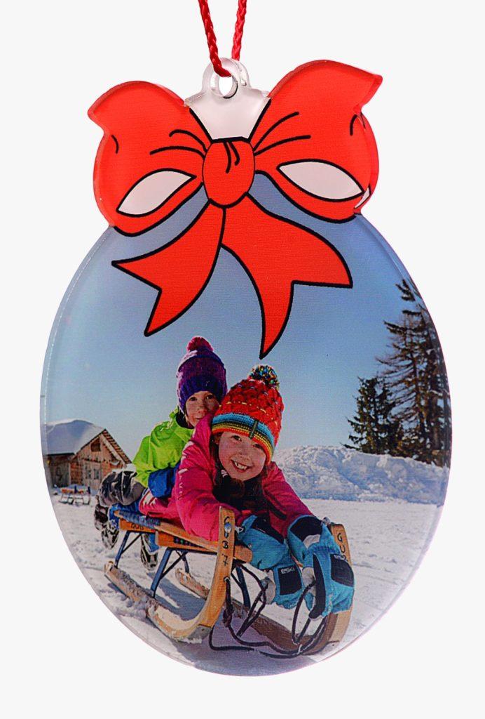 Palla Natale con fiocco